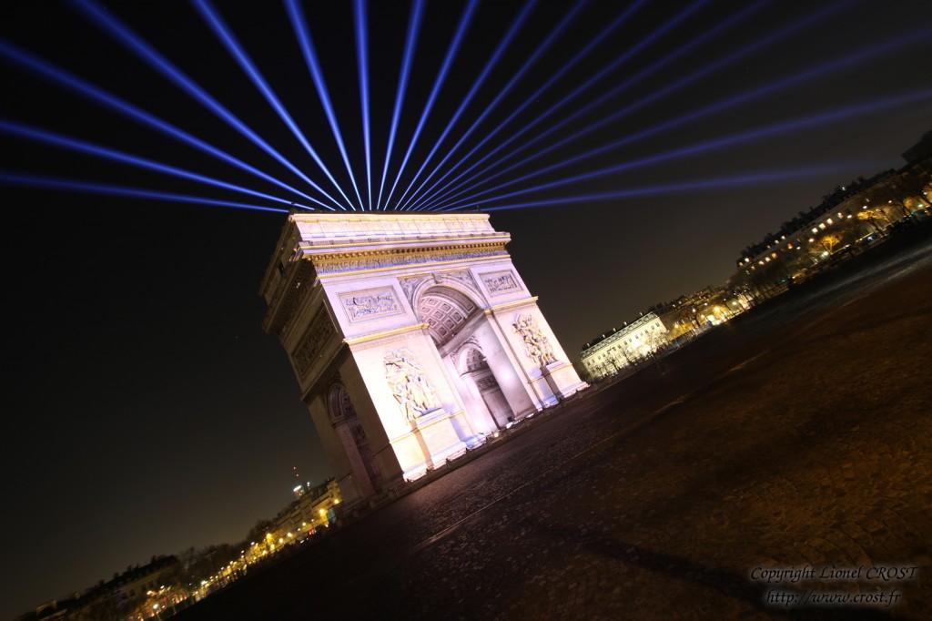 Arc de triomphe pour le 31-12-2014